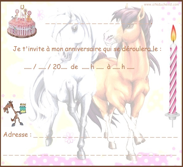 carte invitation anniversaire dora